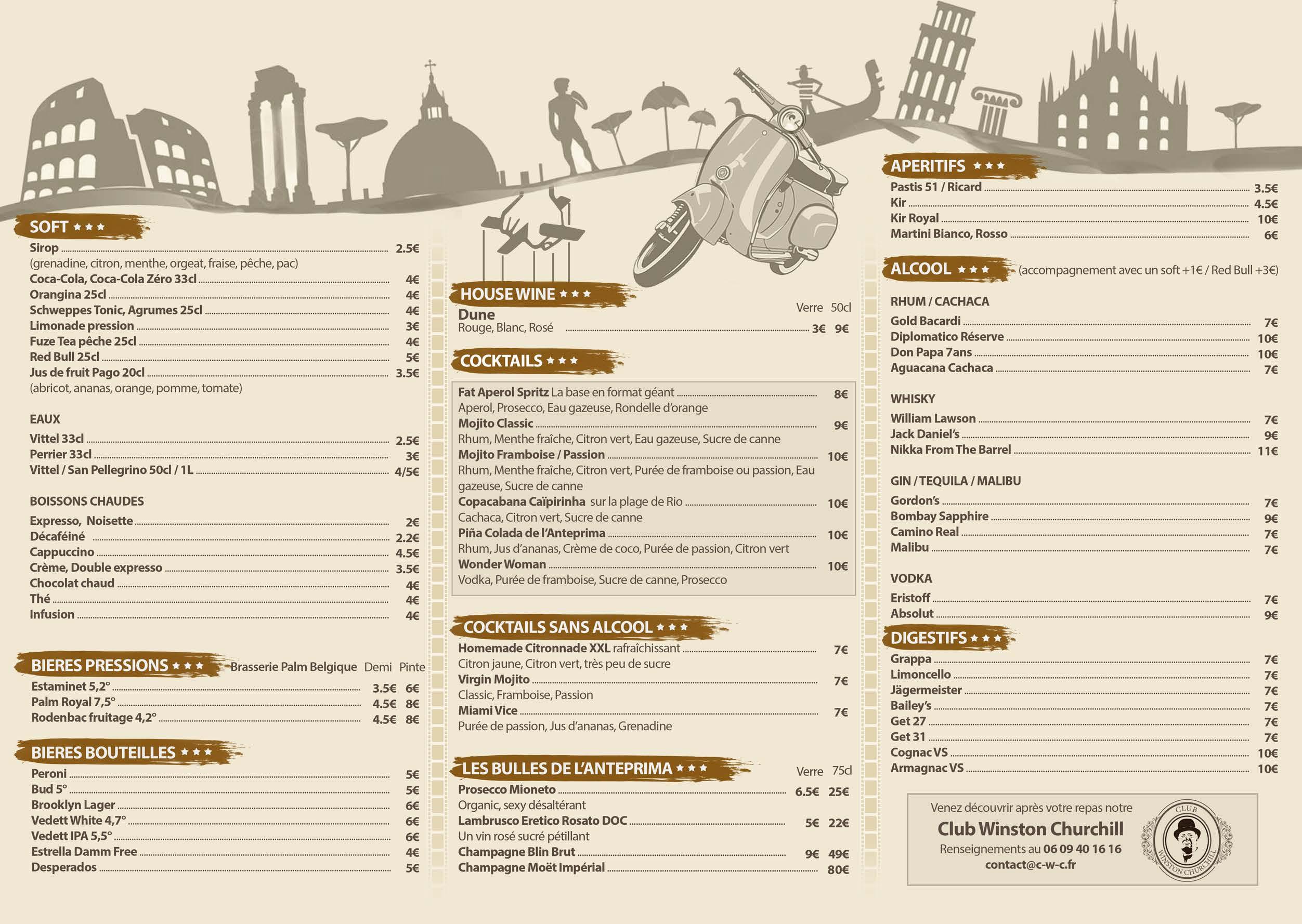Carte Restaurant AntePrima Nimes (2)