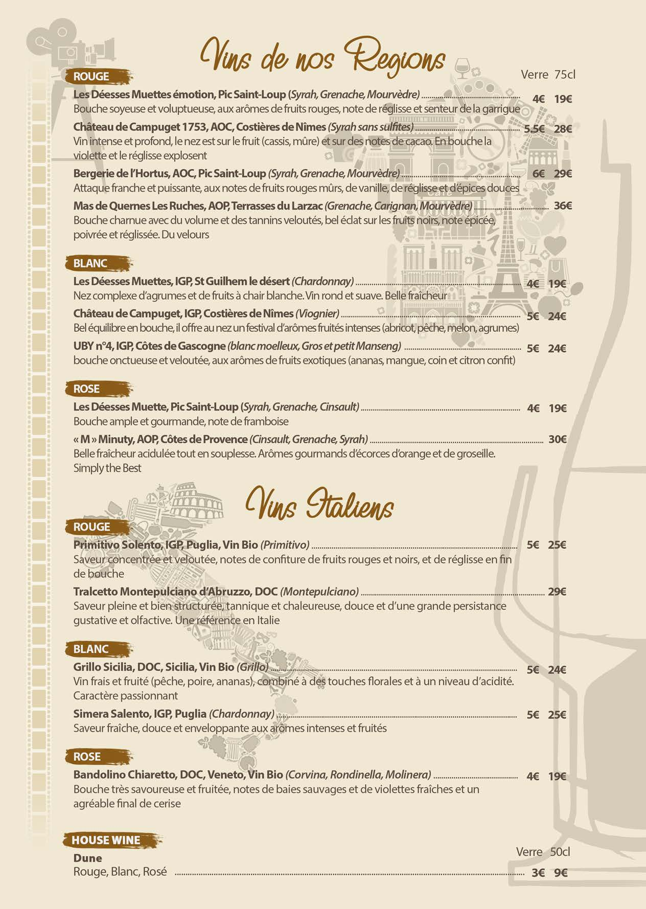 Carte des boissons Restaurant AntePrima (1)