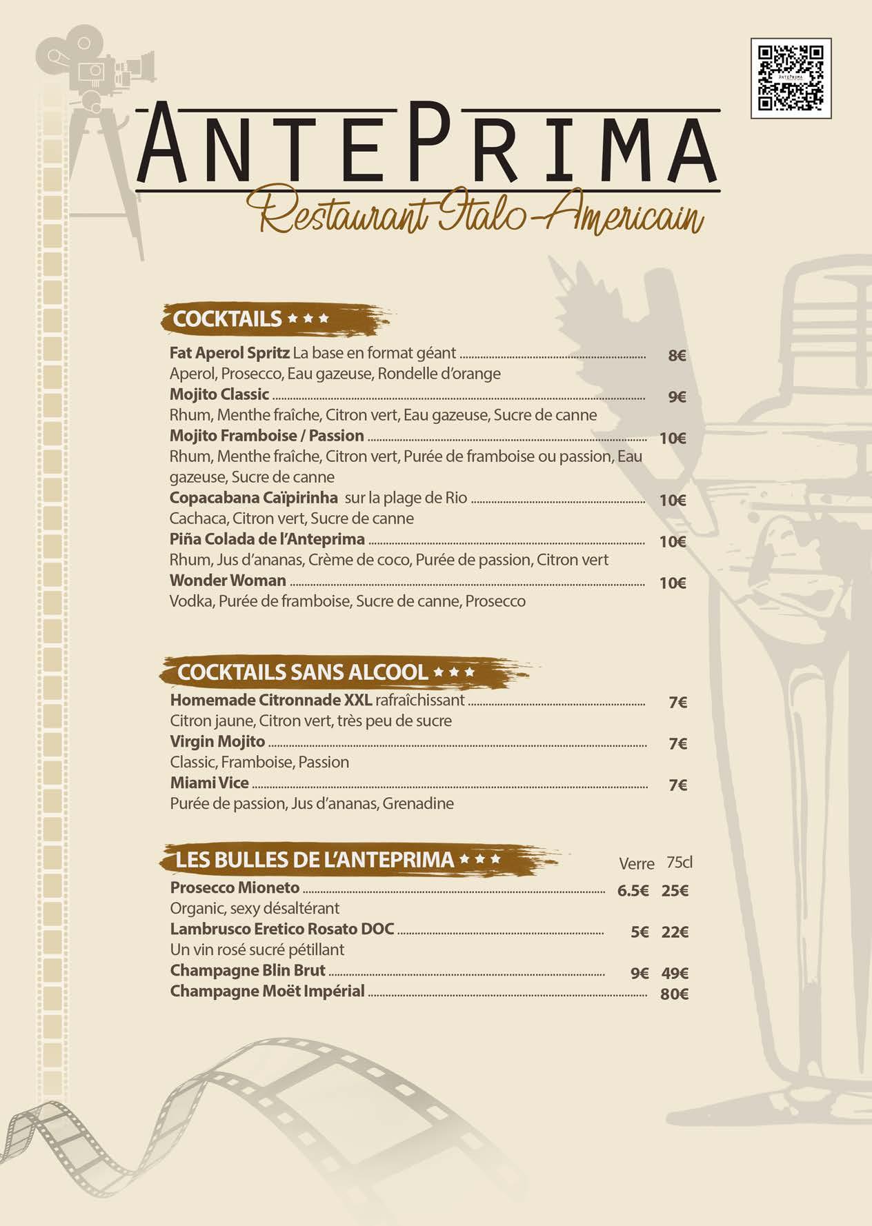 Carte des boissons Restaurant AntePrima (2)